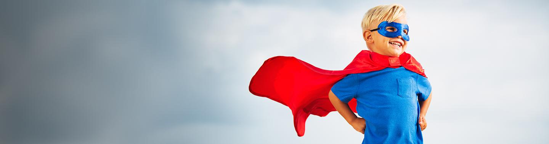 Vi älskar<br>framgångssagor<br>och superhjältar
